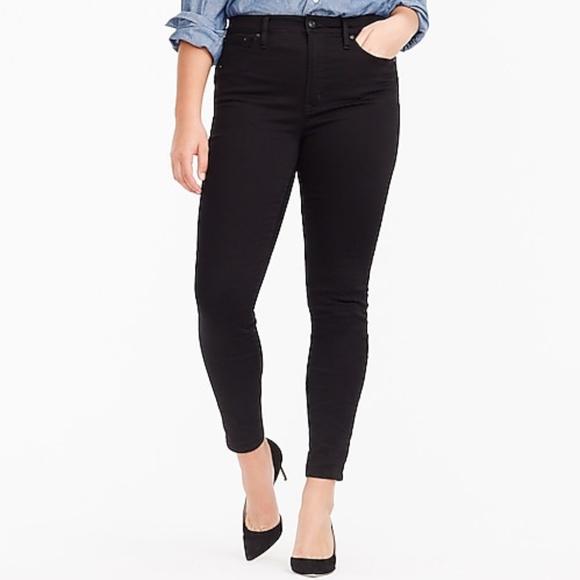 "J. Crew 10"" Highest-rise Toothpick Jeans in True Black"